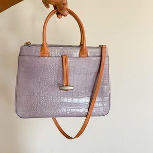 M. London Purple Leather Bag
